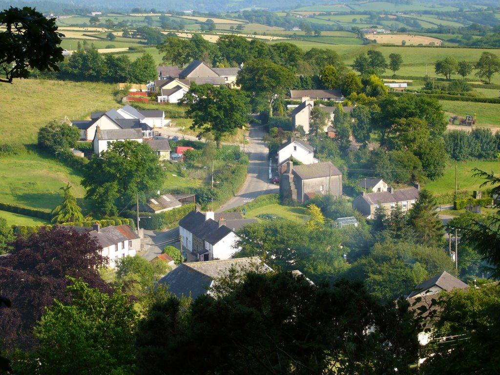 Llanfynydd aerial