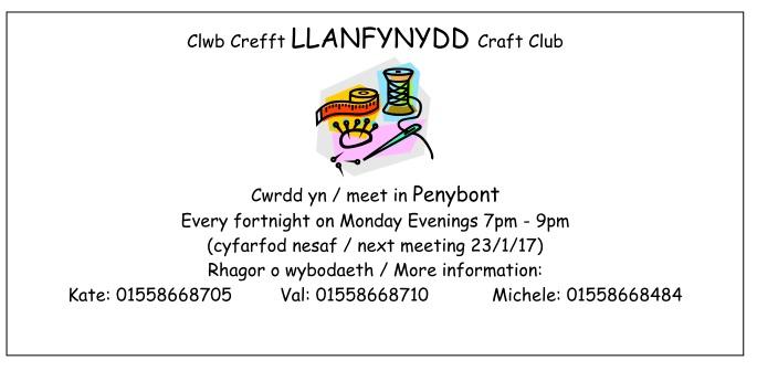 Llanfynydd-craft-club