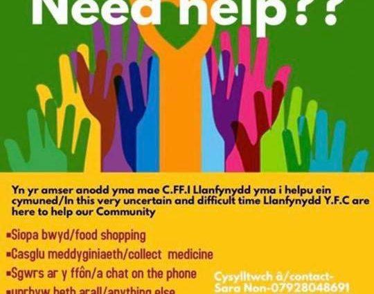 Llanfynydd support